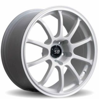 Rota G Force 18x9 5x114 3 30 73 1 White Rims Wheels
