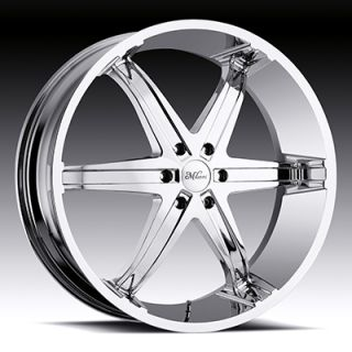 Whip 6 5x4 75 Range Rover Camaro Firebird Chrome Wheels Rims