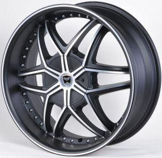 GWG G32 20 Mat Black Wheels Rims Chrysler 300M Town Country 300C AWD