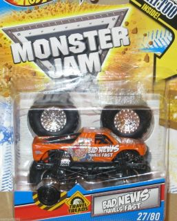 HOT WHEELS ATHENTIC MONSTER JAM BAD NEWS 27 W TATTOO 1 64 NEW DAMAGED