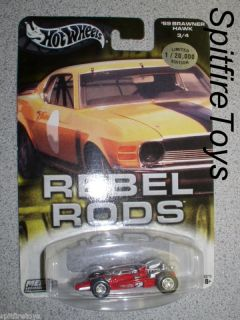 HOT WHEELS REBEL RODS MARIO ANDRETTI 1969 INDY 500 WINNER CAR 69