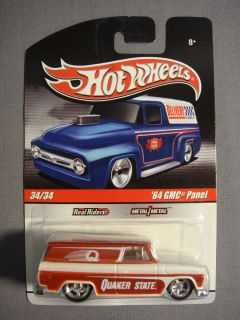 HOT WHEELS REAL RIDERS RED 64 GMC PANEL QUAKER STATE #34 DIECAST CAR