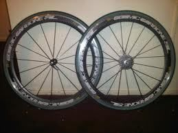 Cosmic Carbone Pro Bike Wheels Tubular 700c 27 Used in Mint condition