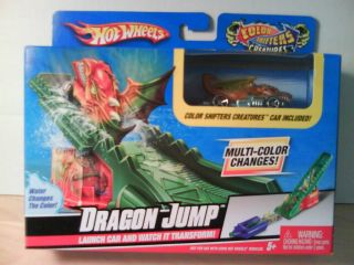 Hot Wheels Dragon Jump Color Changes Shifters Creatures Toy Play Set