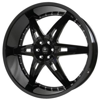 22x9 5 Verde Allusion Black Wheels 5x115 5x5 V31 Rims