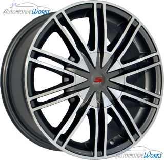 17x7 5 Sendel S07 5x100 5x115 40mm Silver Machined Wheels Rims Inch 17
