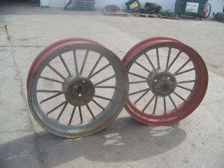 Styled G Tractor Original 36 Rear Roundspoke Wheels RARE Find