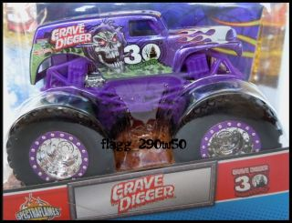 Hot Wheels Monster Jam Truck* 30TH ANNIVERSARY PURPLE GRAVE DIGGER