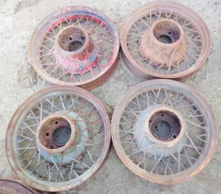 1932 1933 Chevy Wire Wheels 40 Spoke Set of 4 18