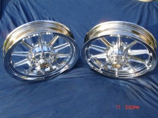 Harley Chrome 10 Spoke Ultra Glide Wheels 4 Touring 84 99 Exchange