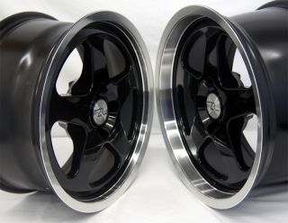 Black Mustang SC Style Wheels 17x8 17x9 Fits Saleen 17 inch 17 4 Lug