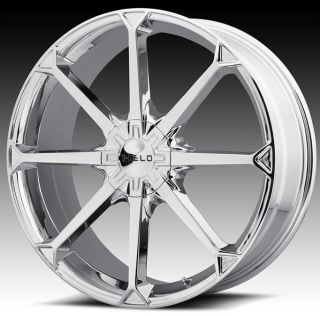 22 inch Helo Chrome Wheels Rims 22x8 5 42 300C AWD Charger Chalenger