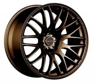 17 TENZO R TYPE M BRONZE RIMS WHEELS 17x7 +42 5x100 CELICA TC WRX