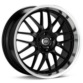 18 Enkei Lusso Black Rims Wheels 18x7 5 42 5x100 Camry Corolla Celica