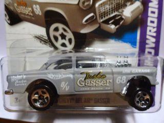 Hot Wheels 2013 190 55 Chevy Bel Air Gasser Showroom B Case Nov