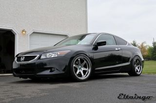 TE37 Style Matte Black Wheels Rims Fit Honda Accord 2003