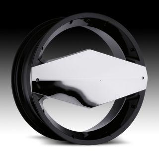 20 inch Vision Morgana Black Wheels Rims 5x110 38