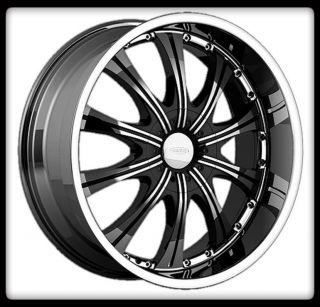 30 Karat 5x112 Audi Volkswagon Staggered Black Wheels Rims