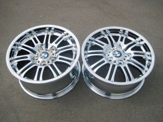 Factory BMW M3 Chrome Alloy Wheel Rim 18 1 Rear