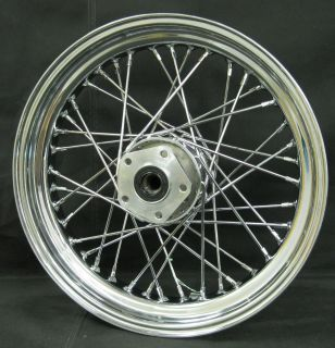 Chrome Ultima 40 Spoke 16x3 5 Front Wheel for Harley Softail 84 99 and