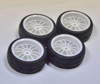 High Grip Wheels Tires Rims 1 10 HPI X Ray Associated G17w12 4 DAY US