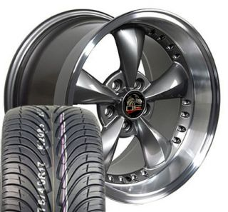 17 9 10 5 Anthracite Bullitt Wheels Tires Bullet Rims Fit Mustang