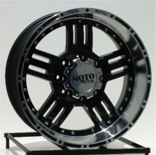 20 inch Black Wheels Rims Chevy HD Dodge RAM H2 8 Lug