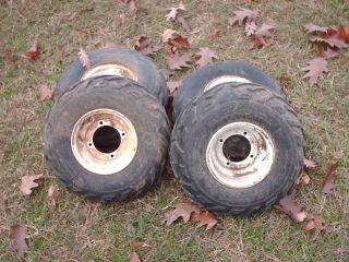 Polaris Scrambler 50cc Set of 4 Wheels and Tires 16x8x7