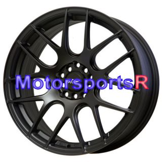 17 17x7 XXR 530 Flat Black Wheels Rims Concave 01 03 Acura CL 04 TSX