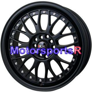 17 17x7 XXR 521 Flat Black Wheels Rims 5x114 3 01 Honda Prelude SI 06