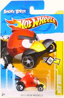 Hot Wheels 2012 Angry Birds Red Bird Car 47 50