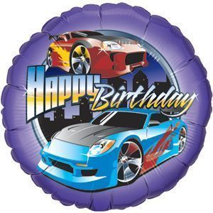18 Happy Birthday Tuner Race Car Balloon Hot Wheel