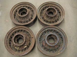 model A KELSEY HAYES 16 dia. 40 spoke wire wheels   many available