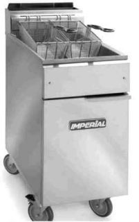 IMPERIAL 50 LB GAS / PROPANE converted DEEP FRYER IFS 50 / ON WHEELS