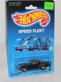 Hot Wheels 1989 Release SPEED FLEET #2014 Hot Bird   Black w/ Gold Hot