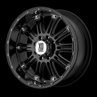 HOSS 795 XD795 BLACK RIMS 285 75 17 NITTO TERRA GRAPPLER WHEELS TIRES