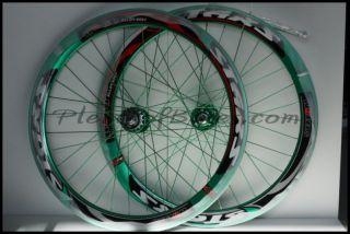 Fixie Single Speed Bike Wheelset Wheels Rim Rims Green 614108