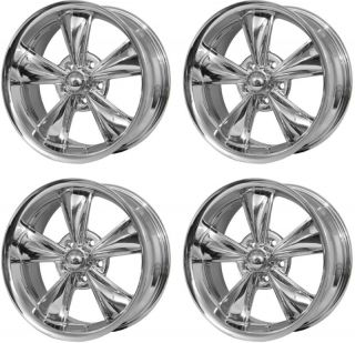 1965 73 Ford Mustang Wheels Bullitt Style 17 x 8 Chrome