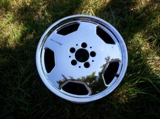 AMG MERCEDES 17 OEM wheel rim CHROME E320 C36 C43 SL500 E55 95 96 97