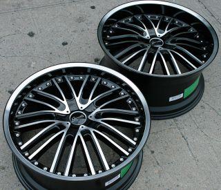 Gianelle Spaarta 20 Black Rims Wheels x5 E53 5 Series