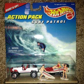 Cars Action Pack Surf Patrol Hot Wheels Police Racing Haulers