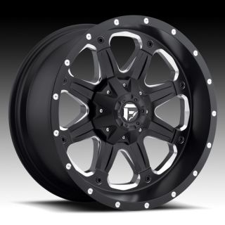 20 Wheels Rims Fuel Off Road Boost Black with 35x12 50x20 Federal