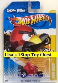 Angry Birds Red Bird Hotwheels 2012 New Models 47 50 New P Case