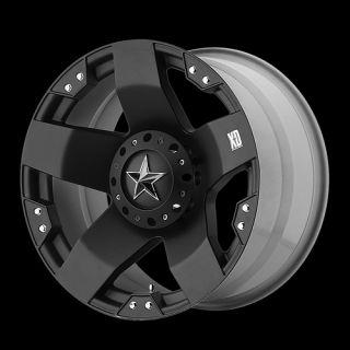 20X10 WHEELS RIMS XD ROCKSTAR BLACK 8X170 W/ 275/55/20 NITTO TERRA