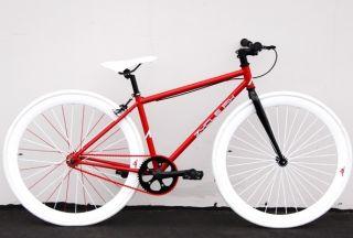 Bike Fixie Bike Road Bicycle 41cm w Deep 45mm Rims Peppermint