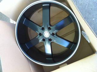 24 U2 55 Black Wheels Tires 6x139 Tahoe Escalade GMC Avalanche