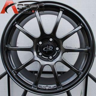18x8 5 Rota G Force Wheels 5x114 3 Rim 48mm Hyper Black