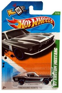 2012 Hot Wheels Treasure Hunt 57 1967 Ford Custom Mustang