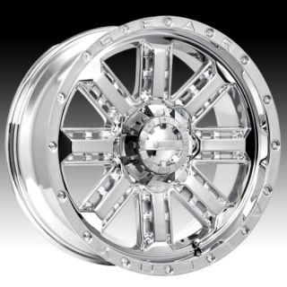 20 Wheels Rims Gear Alloy Nitro Chrome with 35x12 50x20 Federal