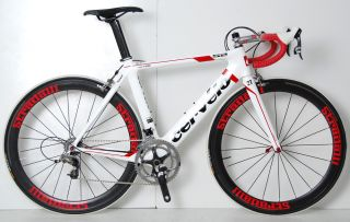 S2 SRAM ROAD BIKE CARBON AERO WHEELS FSA SLK RACE BICYCLE FIZIK 54 cm